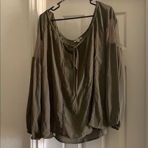 Plus Size Boutique Long Sleeve Blouse 2X
